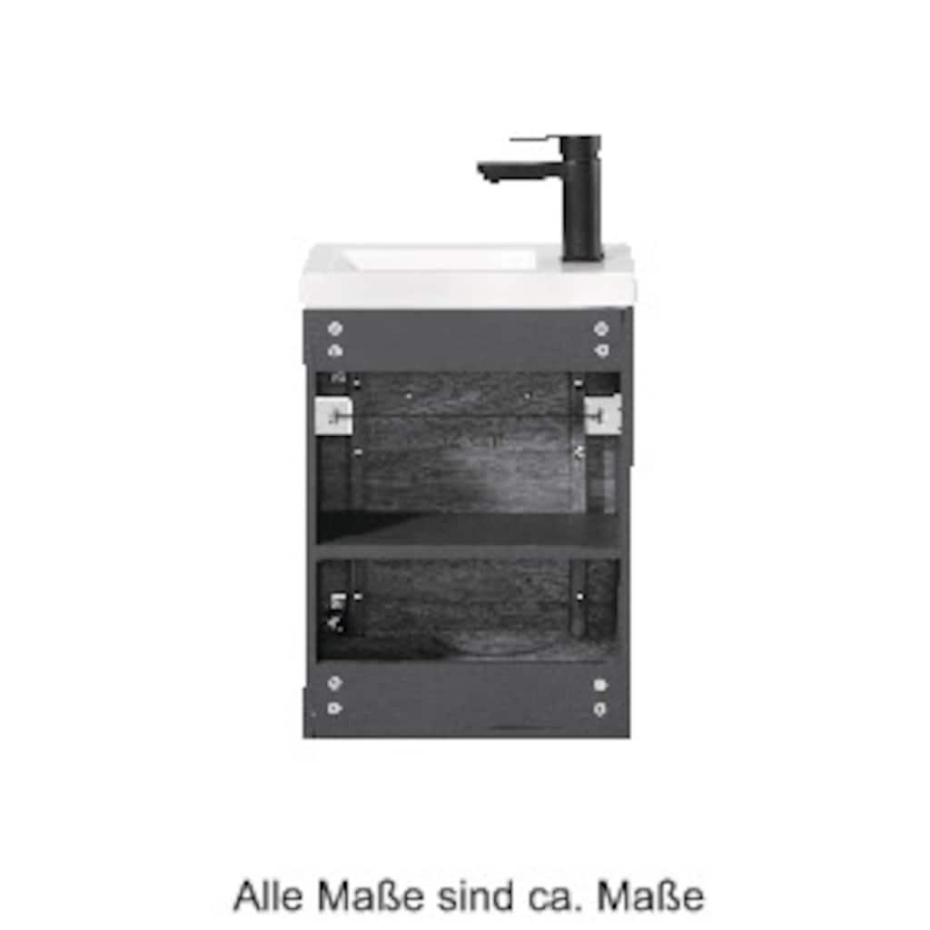 welltime Waschtisch »Lund«, Gästebad, Breite 40 cm, Massivholz