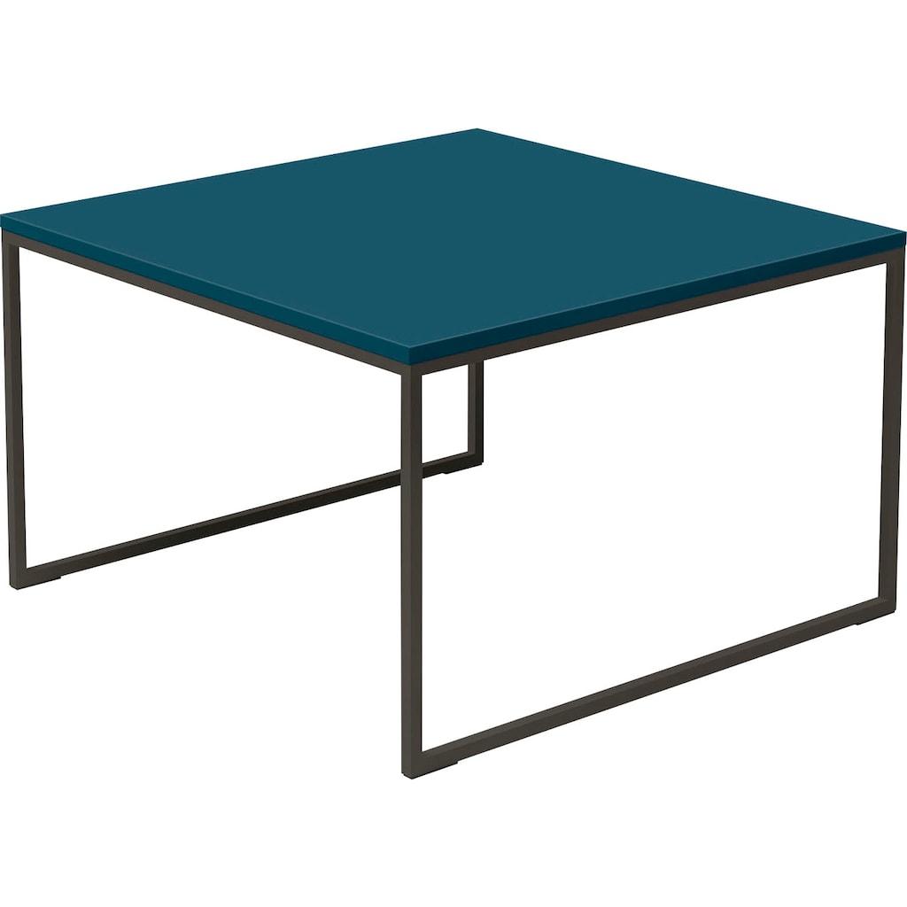 now! by hülsta Beistelltisch »CT 17«, quadratisch mit grauem Gestell, Höhe 43,4 cm