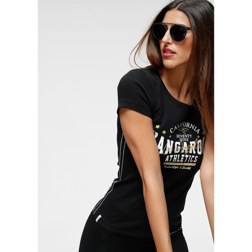 KangaROOS T-Shirt, mit goldgfarbenem Glitzerdruck
