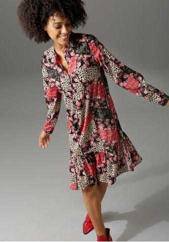Aniston CASUAL Blusenkleid, mit trendigem Patchdruck kaufen
