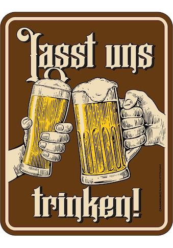 Rahmenlos Blechschild für Bierliebhaber kaufen