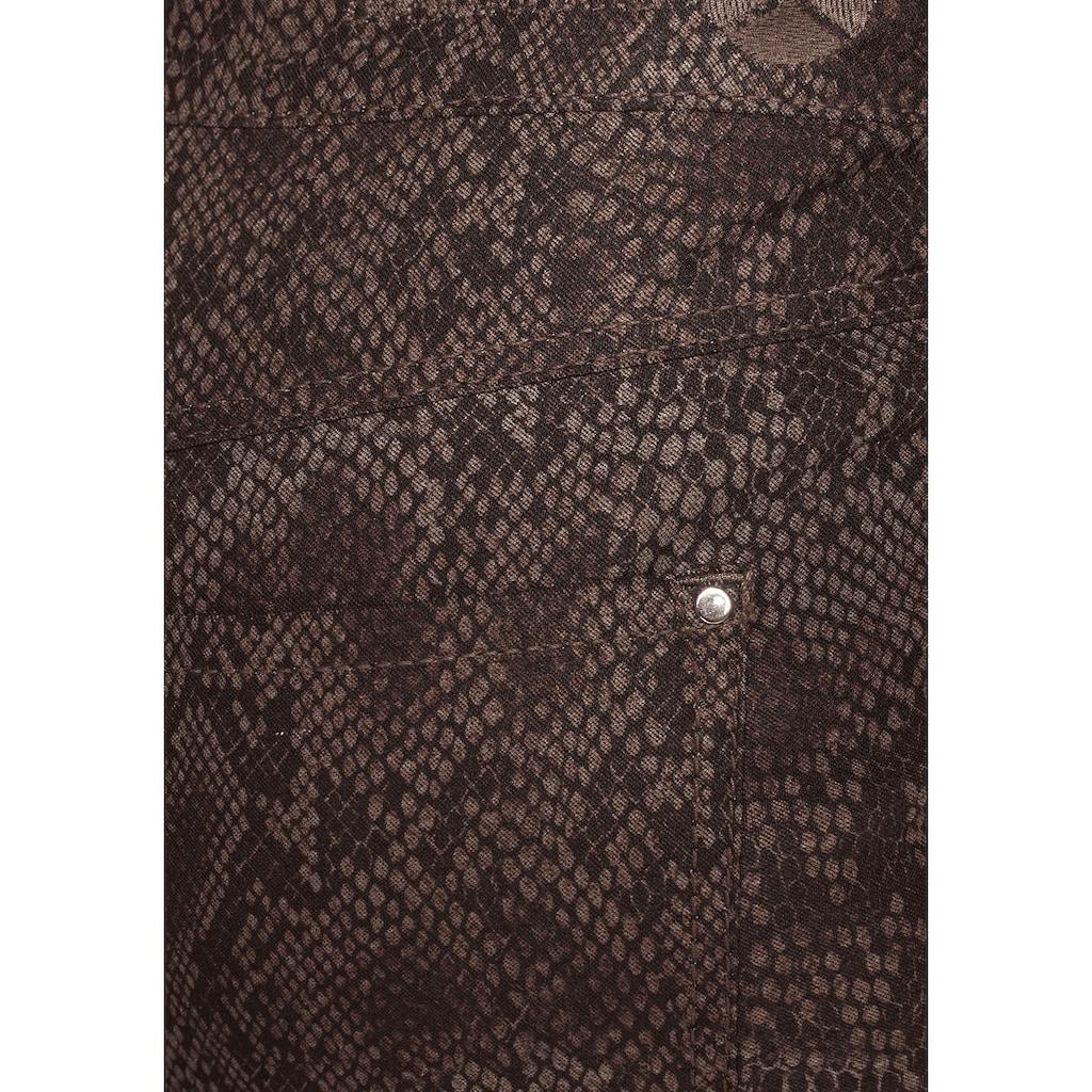 MAC Röhrenjeans »Dream Snake«, Aktueller allover Snake-Print