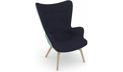 Max Winzer® Sessel »build-a-chair Arne«, im Retrolook, zum Selbstgestalten, Hochlehner kaufen