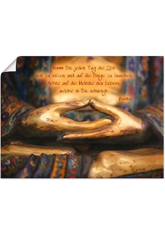 Artland Wandbild »Weisheit«, Religion, (1 St.), in vielen Größen & Produktarten... kaufen