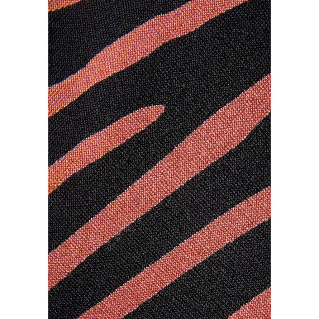 LASCANA Maxikleid, mit Zebradruck