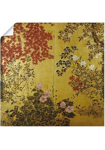 Artland Wandbild »Japanischer Wandschirm 18. Jahrhundert« kaufen