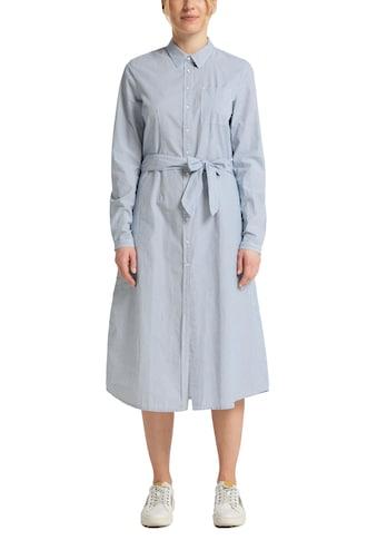 MUSTANG Maxikleid »Fanny ctn striped«, im Hemdblusenstil kaufen