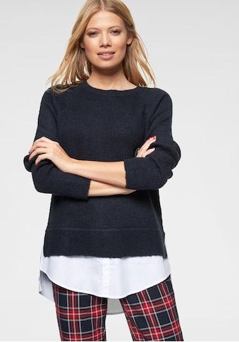 Aniston CASUAL 2-in-1-Pullover, mit Blusenansatz am Saum kaufen