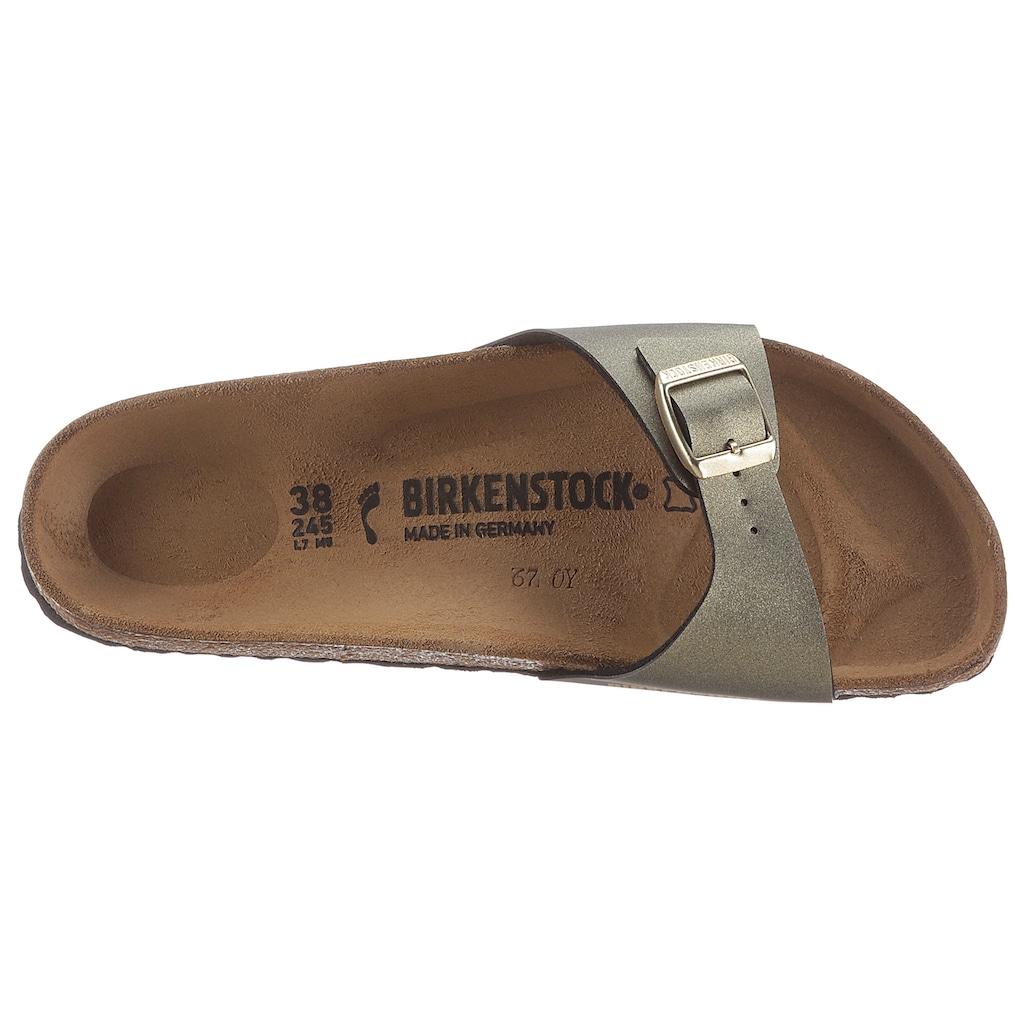 Birkenstock Pantolette »MADRID ICY METALLIC«, für Strand- und Badeausflüge geeignet, Schuhweite: schmal