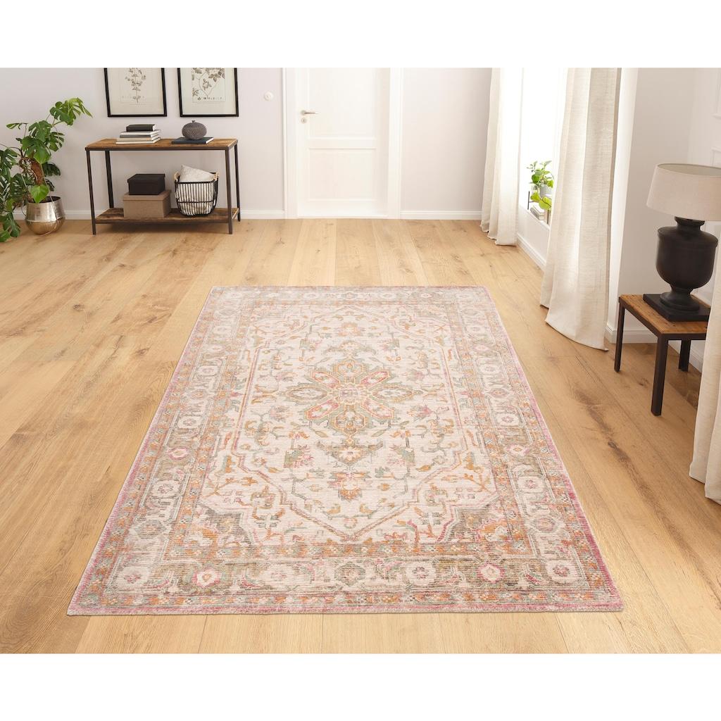 DELAVITA Teppich »Kolat«, rechteckig, 16 mm Höhe, Vintage Design, Wohnzimmer