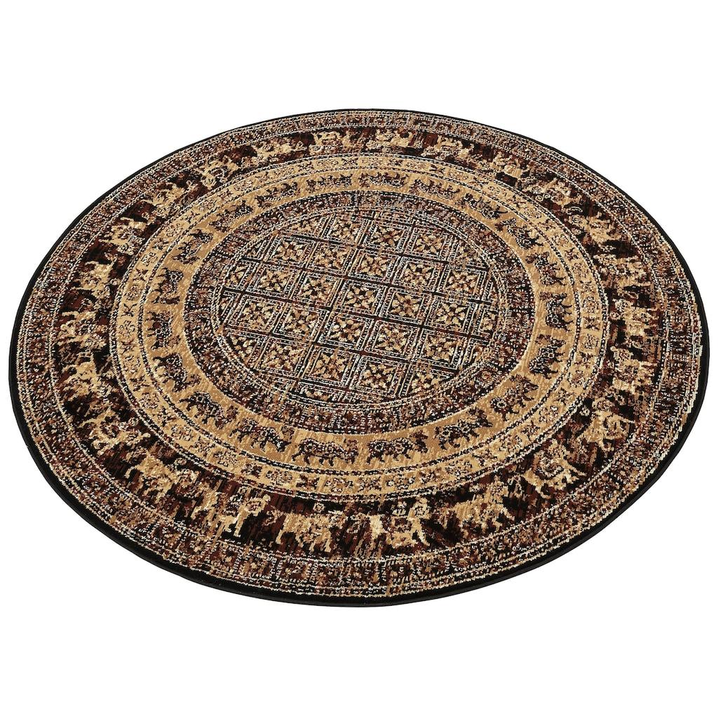 my home Teppich »Karavane«, rund, 7 mm Höhe, Orient - Dekor, Wohnzimmer