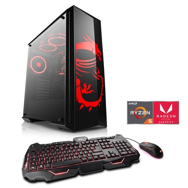 CSL Gaming PC   Ryzen 5 3400G   Vega 11   16 GB DDR4   SSD »Sprint T8618 eSports Dragon Edition«