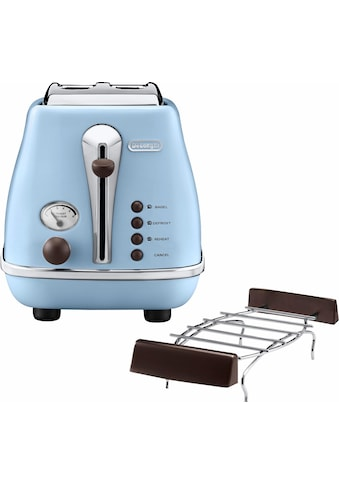 De'Longhi Toaster »Incona Vintage »CTOV 2103.AZ««, 2 kurze Schlitze, 900 W, im Retro... kaufen