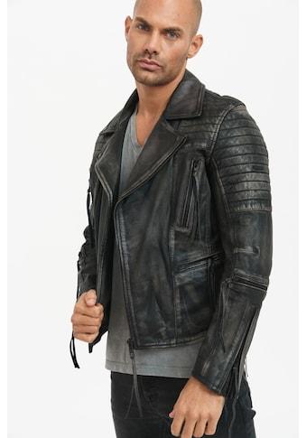 trueprodigy Lederjacke »Bryan«, mit Waschung und Reißverschlüssen kaufen