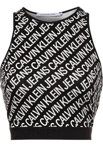 Calvin Klein Jeans Crop-Top »MILANO LOGO AOP TANK TOP«, mit Allover-Logoprint kaufen