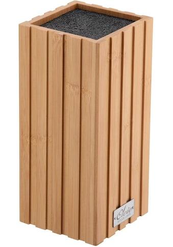 Oleio Messerblock, Bambus, elastischer Borsteneinsatz kaufen