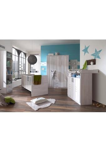 Babyzimmer-Komplettset »Pellworm«, (Set, 3 tlg.), Bett + Wickelkommode + 3 trg. Schrank kaufen