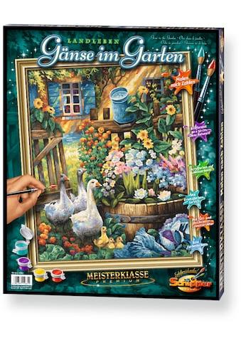 """Schipper Malen nach Zahlen """"Meisterklasse Premium Gänse im Garten"""" kaufen"""