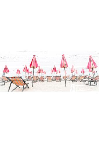 queence Holzbild »Liegestühle am Strand«, 40x80 cm kaufen