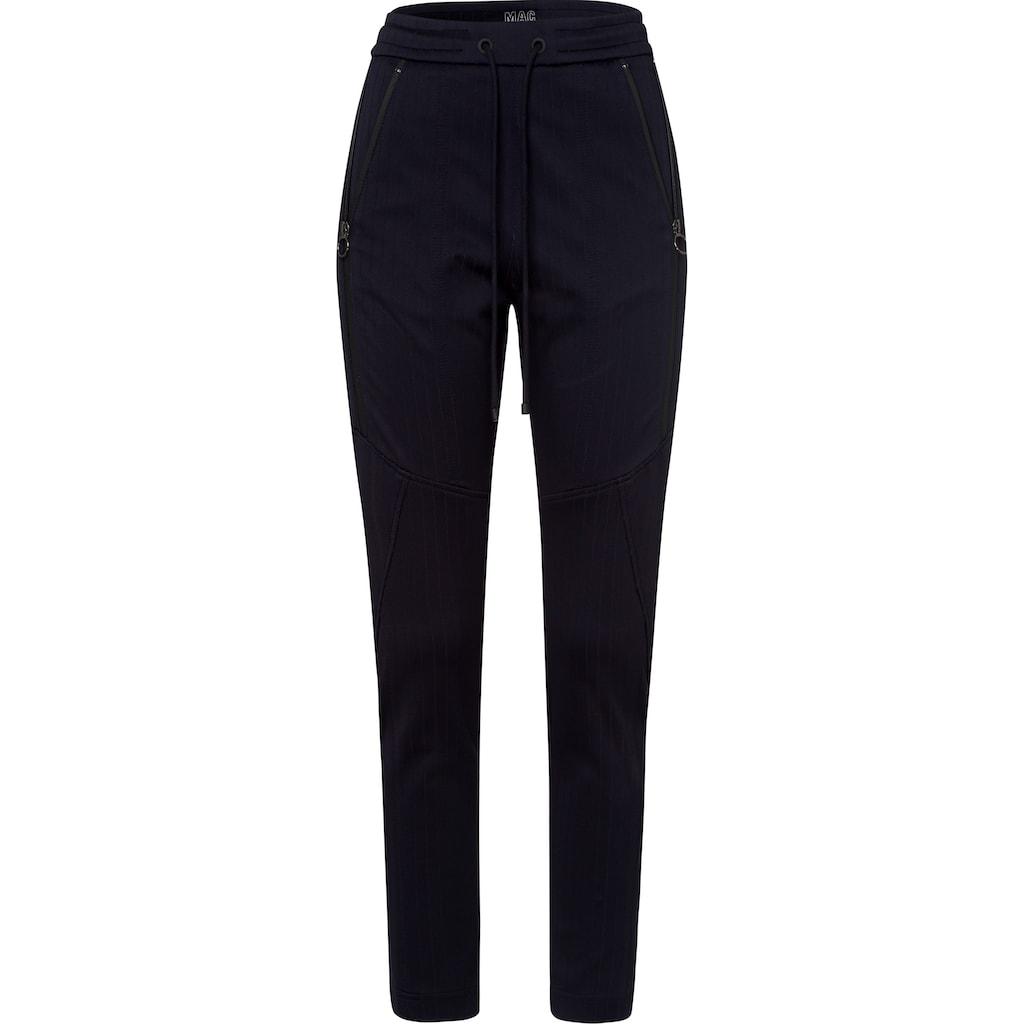 MAC Jogger Pants »Future-Stripe«, Bequeme Form mit edlem Nadelstreien