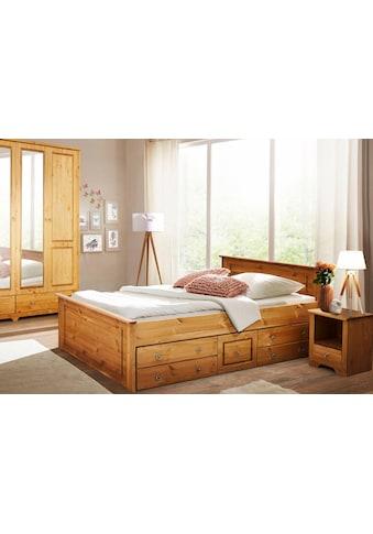 Home affaire Schlafzimmer-Set »Hugo«, (Set, 3 tlg.), Bett 140cm, 2-trg Kleiderschrank und 1 Nachttisch kaufen