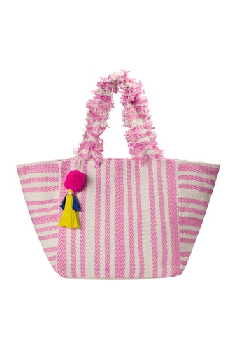 Codello Canvas Beach Bag mit Fransenhenkeln kaufen