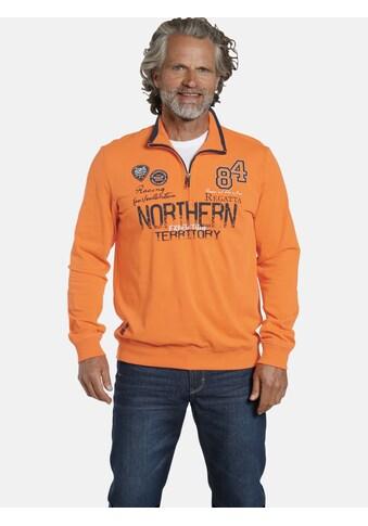 Jan Vanderstorm Sweatshirt »STIG«, sportlicher Troyer-Pullover kaufen