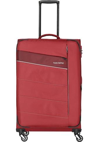 travelite Weichgepäck-Trolley »Kite rot, 75 cm«, 4 Rollen kaufen