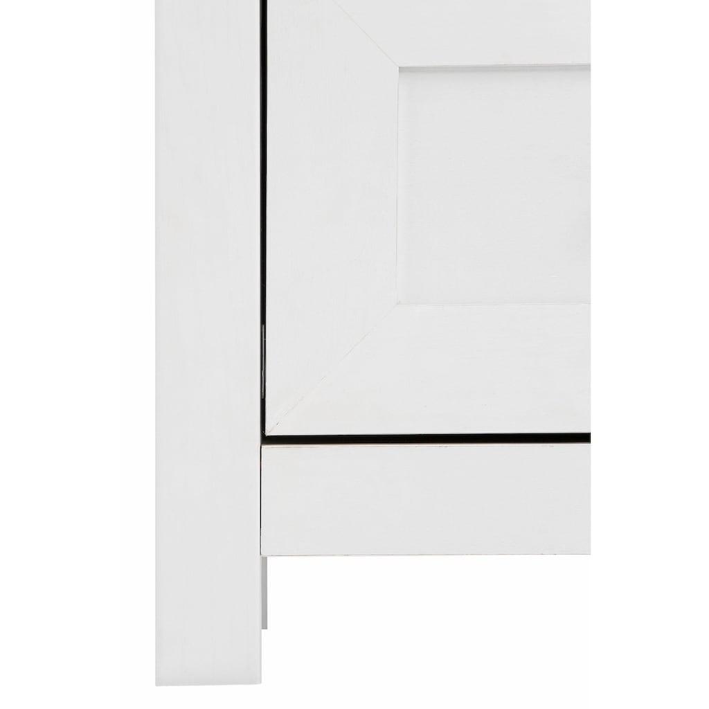 Home affaire Sitzbank »Abelina«, erstrahlt in einer schönen Holzoptik, mit einem schönen Metallgriff, Breite