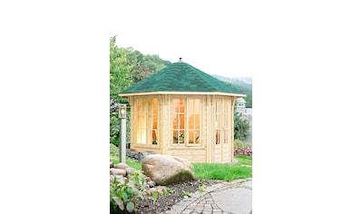 Wolff Holzpavillon »Capri 3.5«, BxT: 430x430 cm, mit Dachschindeln und Fußboden kaufen