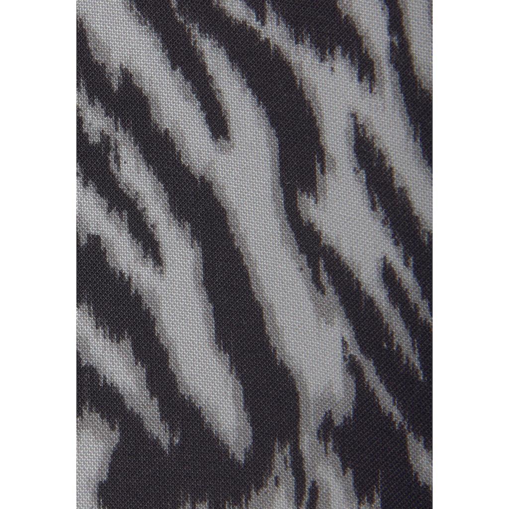 LASCANA Schlupfbluse, mit Zebraprint