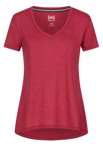 SUPER.NATURAL T-Shirt »W TRAVEL TEE«, funktioneller Merino-Materialmix kaufen