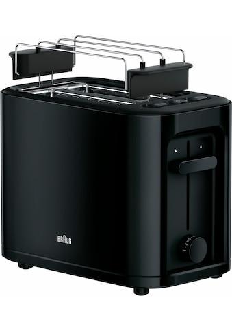 Braun Toaster »HT 3010 BK«, 2 kurze Schlitze, für 2 Scheiben, 1000 W kaufen