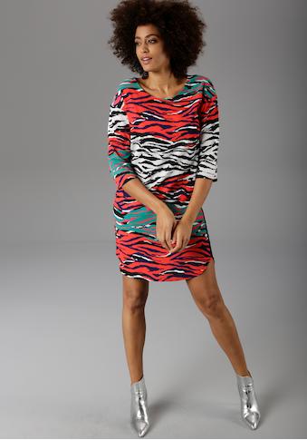 Aniston CASUAL Sommerkleid, mit bunten Zebra-Druck - NEUE KOLLEKTION kaufen