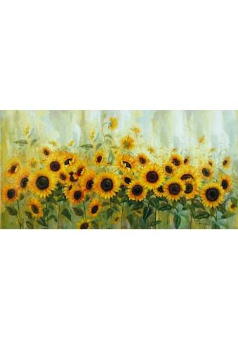 Home affaire Leinwandbild »Prieur: Sonnenblumenwiese«, 99/49 cm kaufen