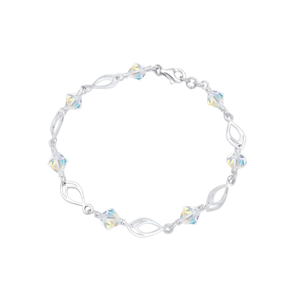 Elli Armband »Kristalle Perlen 925 Silber«