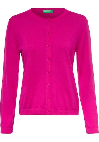United Colors of Benetton Cardigan »Strickjacke«, mit extrafeinem Maschenbild kaufen