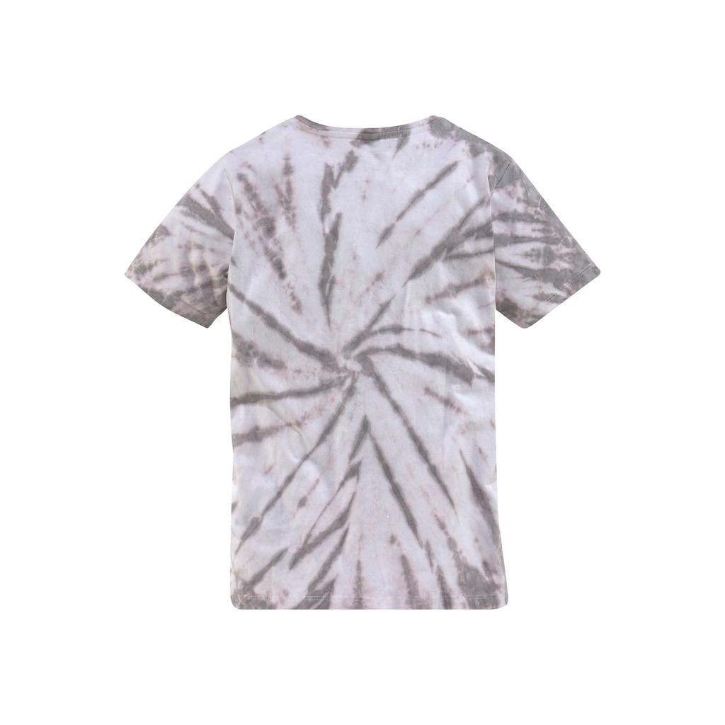 Bench. T-Shirt »in toller Batikoptik«
