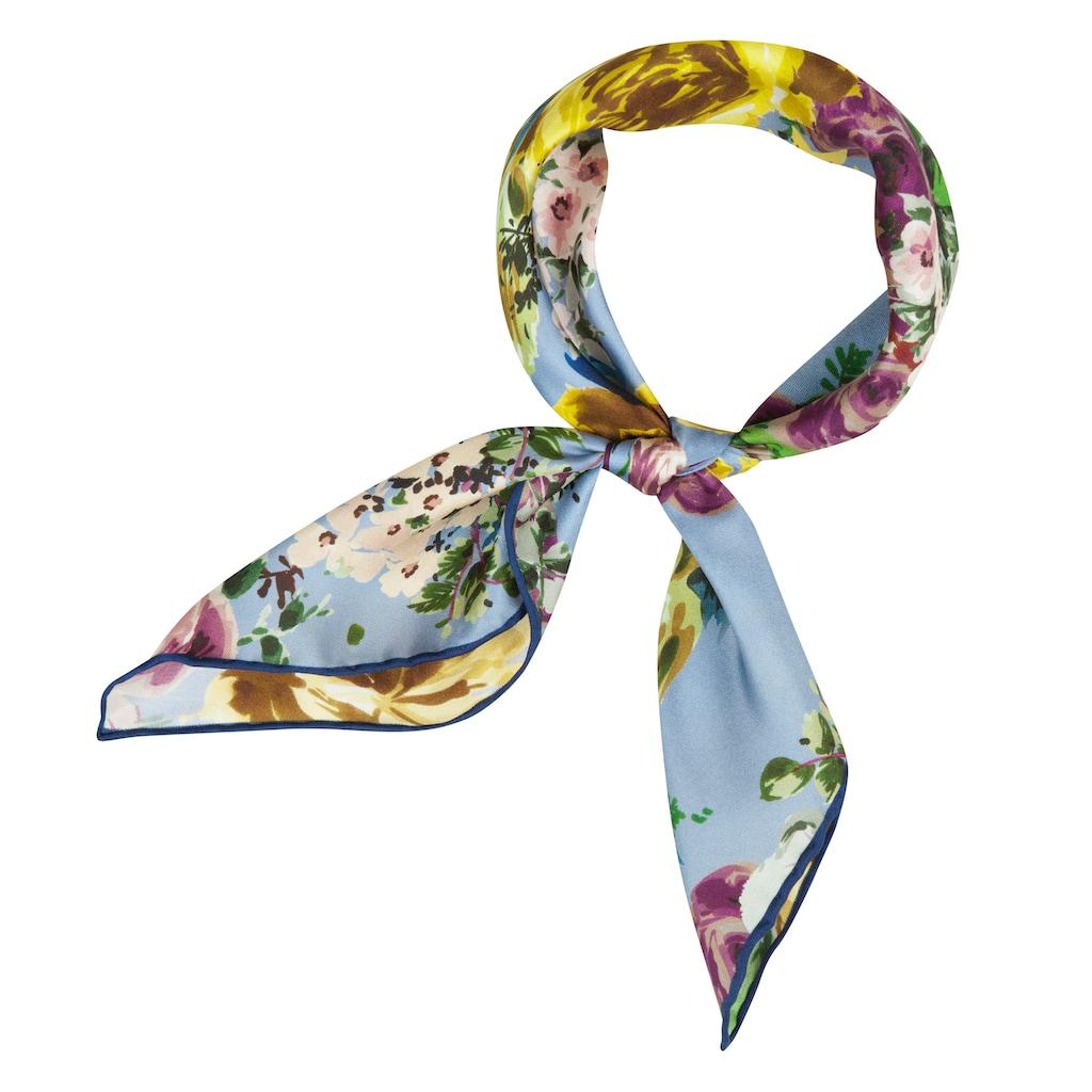 Codello Seidentuch, aus reiner Seide mit Blumen-Muster