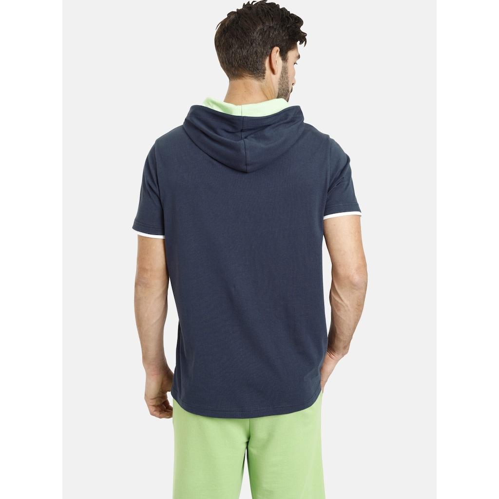 Jan Vanderstorm Kapuzenshirt »THIADE«, T-Shirt in Doppellagen-Optik