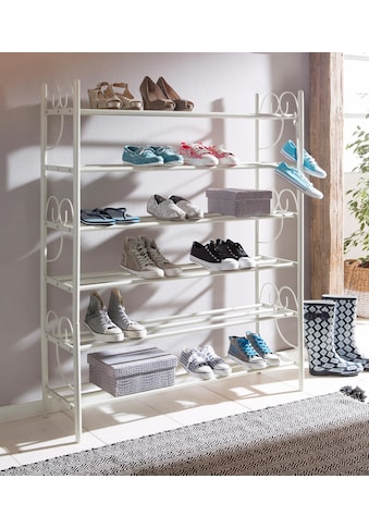 Home affaire Schuhregal »Princess«, (3 St., bestehend aus 3 Regalen), 3er Set, Platz für ca. 24-30 Paar Schuhe (ohne Absatz), Höhe 120 cm kaufen