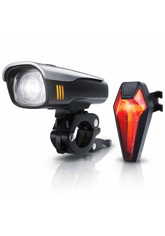 Aplic LED Fahrradlampen - Set mit Front & Rücklicht »Fahrradbeleuchtung mit Akku / StvZO zugelassen« kaufen