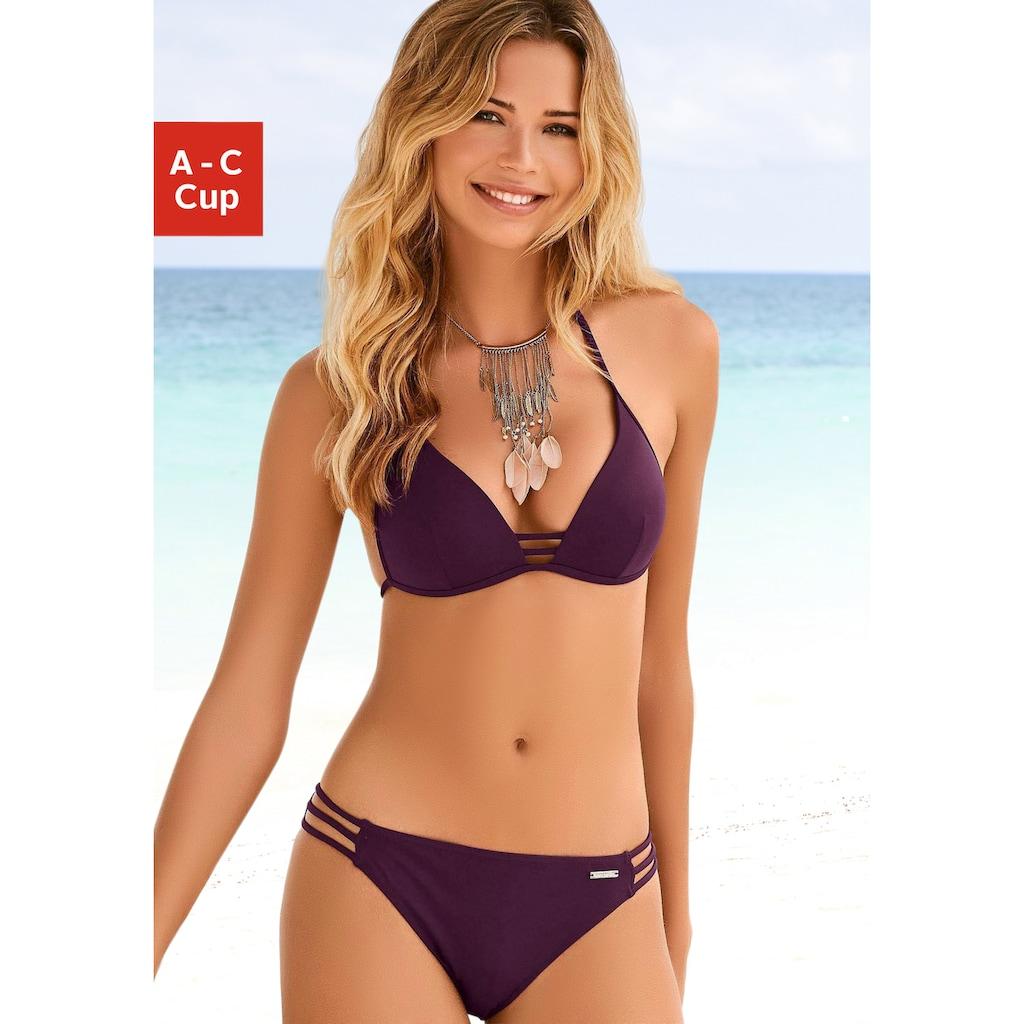 Bruno Banani Triangel-Bikini, mit Zierbändern
