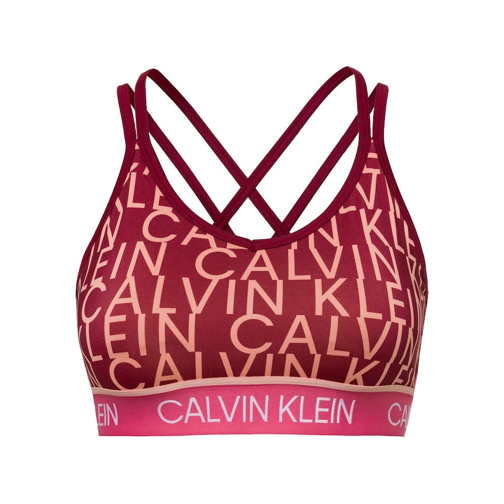Calvin Klein Performance Sport-Bustier »LOW SUPPORT BRA«, mit Trägern für geringe Intensität