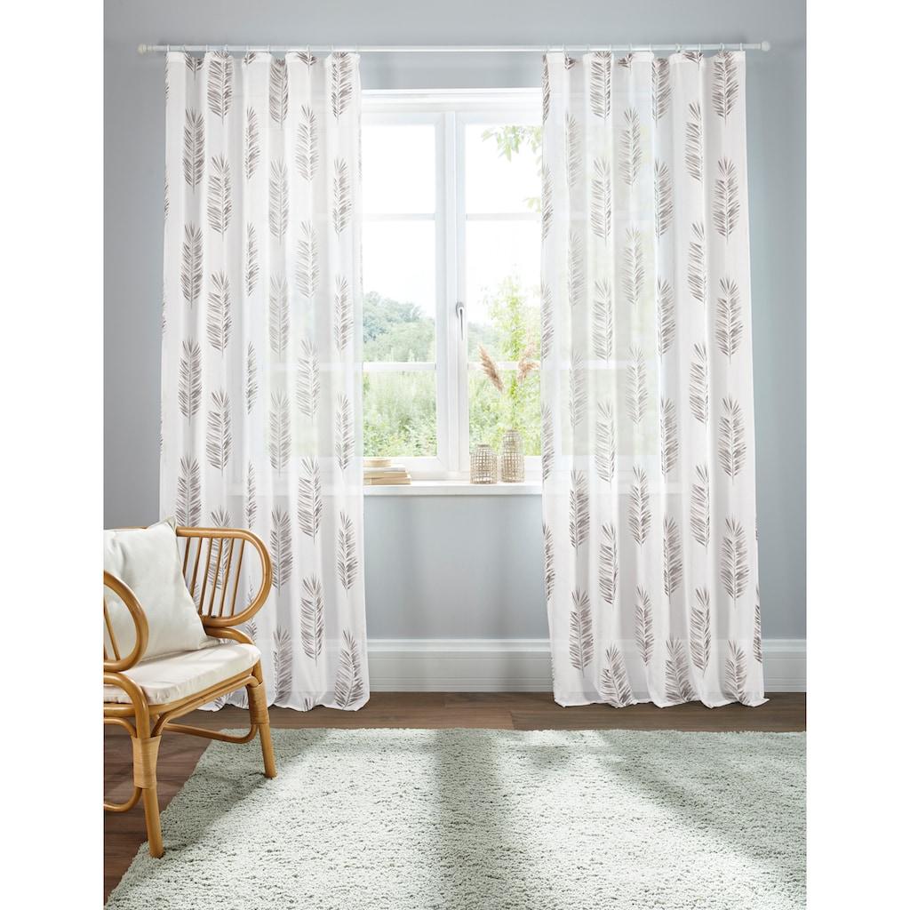 Home affaire Gardine »Terni«, Vorhang, Fertiggardine, transparent