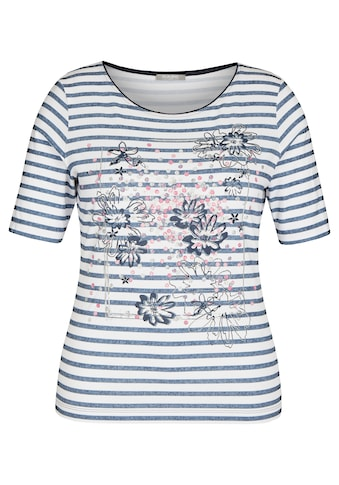 Rabe T-Shirt, mit Ringelmuster und Front-Print kaufen