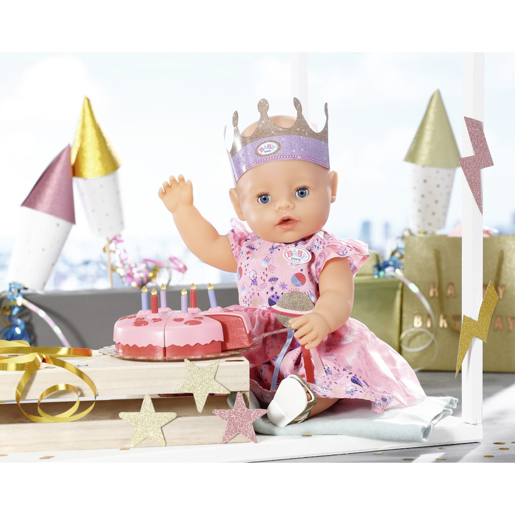 Baby Born Puppenkleidung »Deluxe Happy Birthday«, (Set, 4 tlg.)