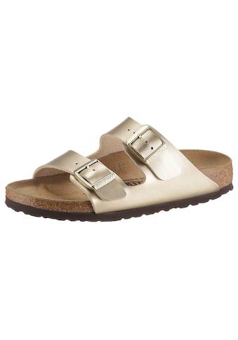 Birkenstock Pantolette »Arizona«, aus glänzendem Birko-Flor, Schuhweite: schmal kaufen