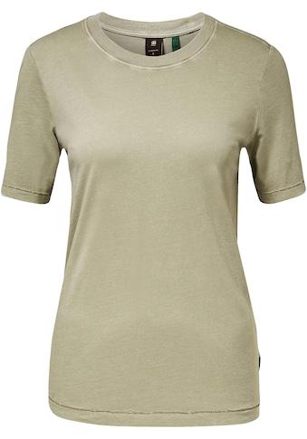 G-Star RAW T-Shirt »Regular fit tee overdyed«, mit wunderschöne Farbeffekt durch... kaufen