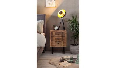 SIT Nachtkommode »Parquett«, aus recyceltem Teak, Breite 45 cm kaufen